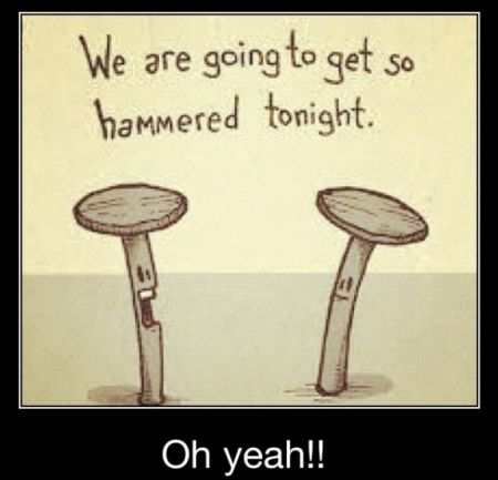 we are going to get hammered tonight demotivational