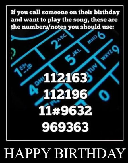 phone numbers to play on someone's birthday
