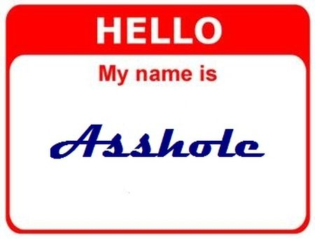 hello my name is a**hole