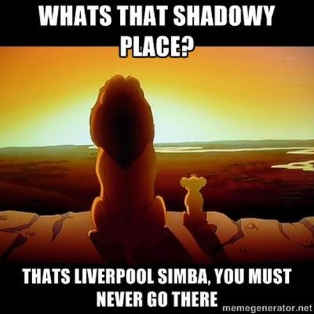 Funny  football/soccer meme – what's that shadowy place