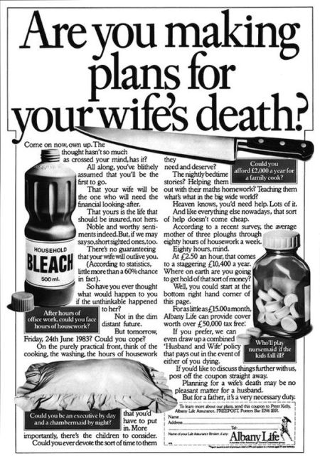 are you making plans for your wife's death