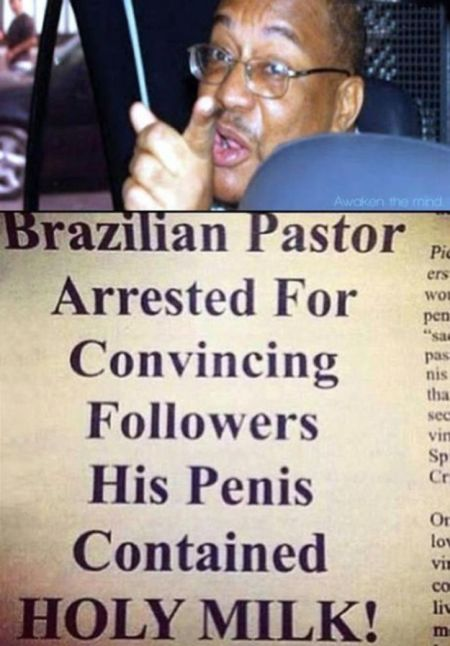 Brazilian pastor arrested funny news