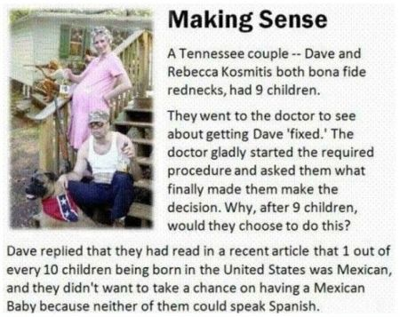redneck making sense