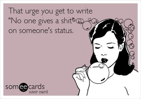 the urge you get to write ecard