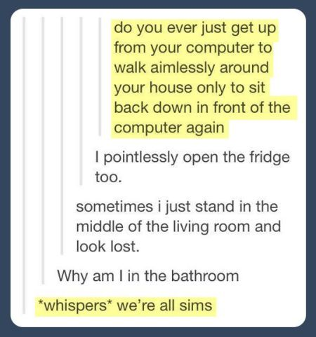 we're all sims funny comment