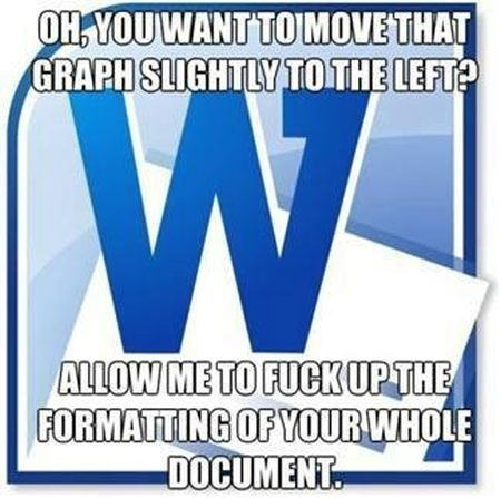 word formatting funny meme