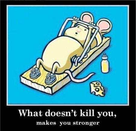 what doesn't kill you makes you stronger demotivational