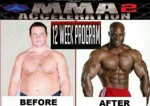 Before/after 12 week program  - funny picture at PMSLweb.com