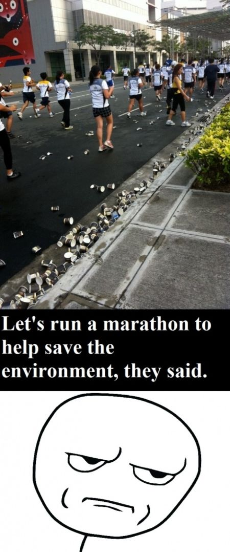 Run a marathon to help save the environment – Funny Sunday pics at PMSLweb.com
