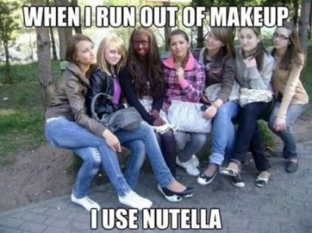 Nutella makeup meme at PMSLweb.com