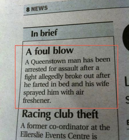 A full blow funny news