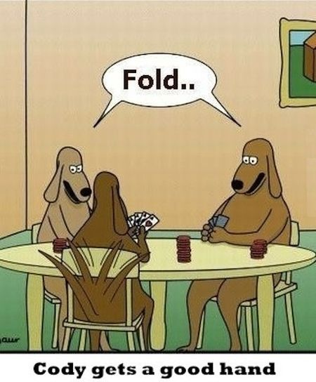 Dog poker cartoon - Weekend Humor at PMSLweb.com