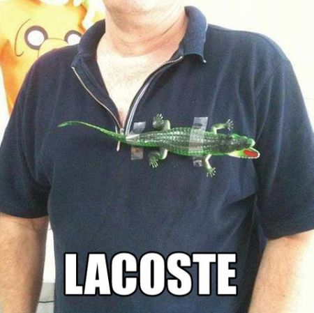 Lacoste funny - Thursday funnies at PMSLweb.com