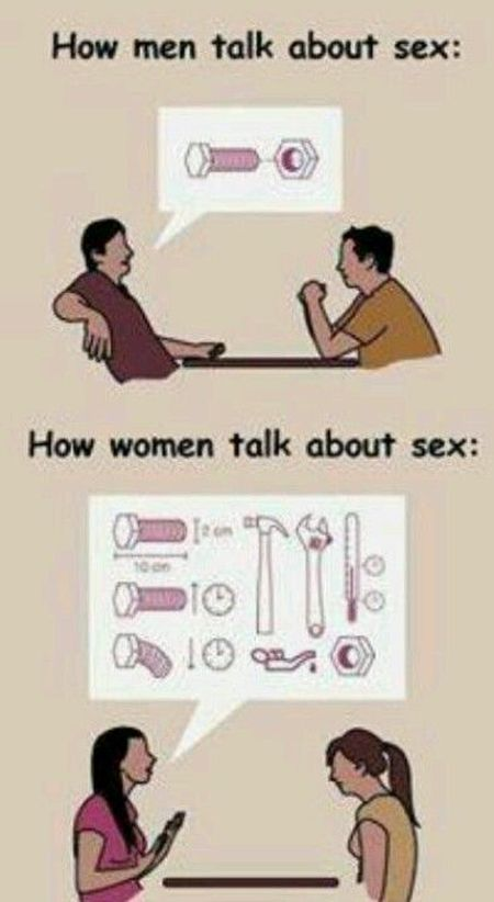 Men talking about sex versus women at PMSLweb.com