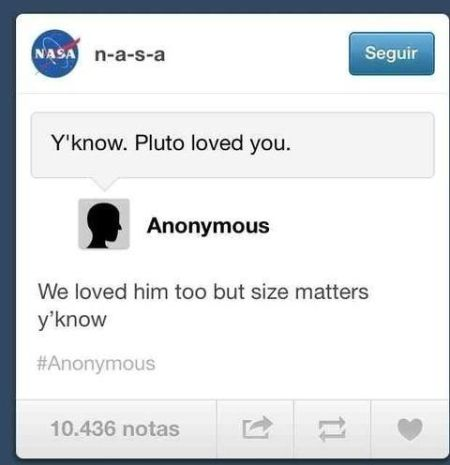 Pluto loved you funny