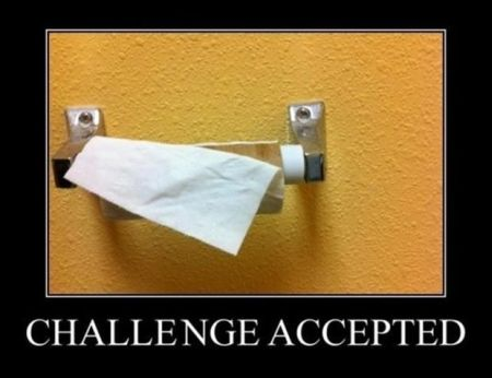 Toilet roll challenge accepted demotivational - Hump Day fun at PMSLweb.com