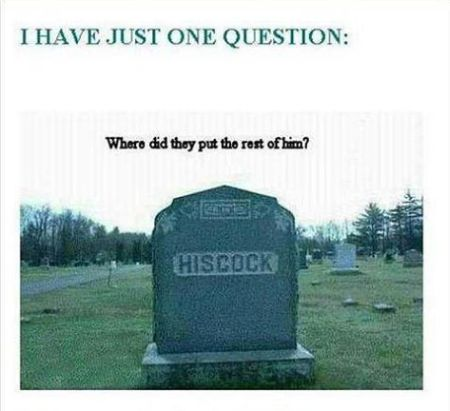 Hiscock grave humor - Monday fun at PMSLweb.com