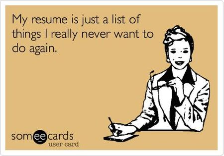 my resume is just a list of things ecard