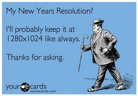 New years resolution ecard at PMSLweb.com