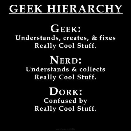 Geek hierarchy funny at PMSLweb.com