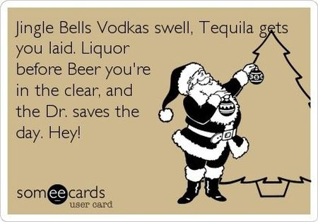 Jingle bells vodka swell ecard - Christmas funnies at PMSLweb.com