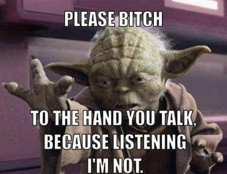 Yoda to the hand you talk at PMSLweb.com