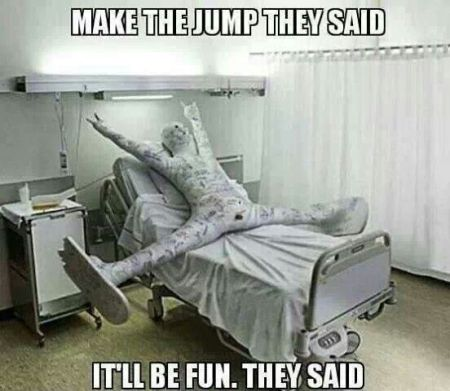 Make the jump they said meme - Tuesday giggles at PMSLweb.com