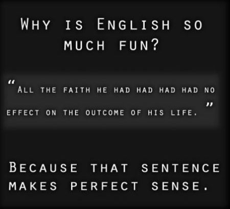 why is English so much fun - Sunday funnies at PMSLweb.com
