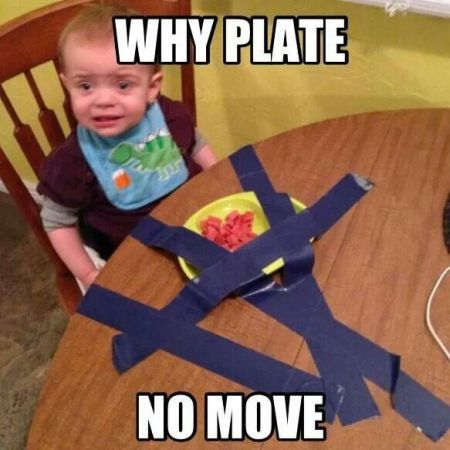 My plate no move meme – Monday funnies at PMSLweb.com