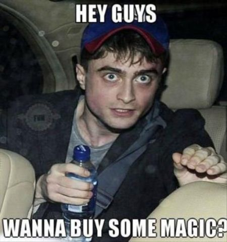 Wanna buy some magic Harry Potter - Thursday funnies at PMSLweb.com