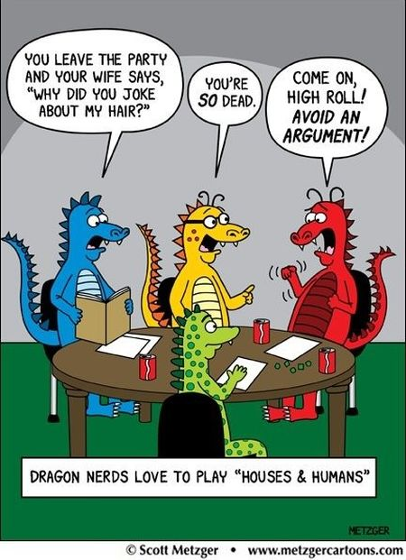 Dragon nerds love to play - Thursday funnies at PMSLweb.com