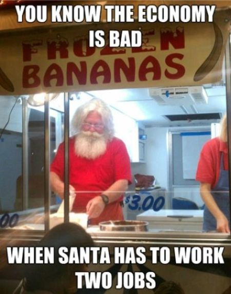When santa has to work 2 jobs - Tuesday giggles at PMSLweb.com