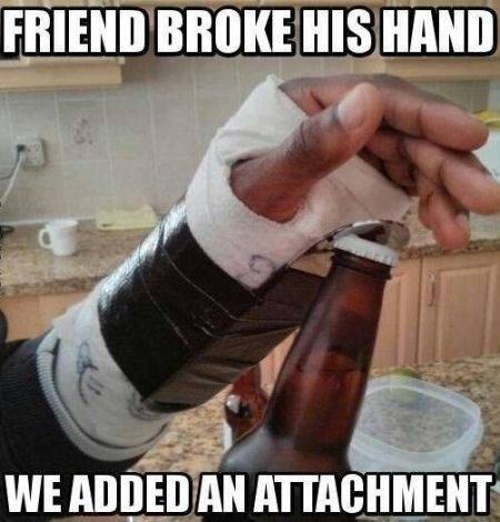 Attachment for broken hand - Hump day funnies at PMSLweb.com
