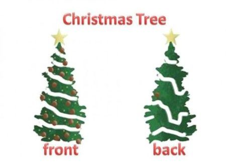 Christmas tree front versus back at PMSLweb.com