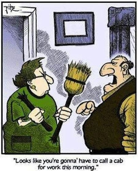 Wife breaks broom cartoon at PMSLweb.com