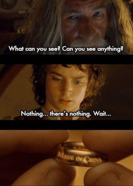 lord of the rings made in china funny