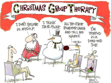 Christmas group therapy at PMSLweb.com