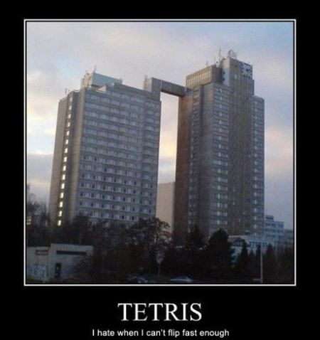 Tetris buildings demotivational - Hump Day fun at PMSLweb.com