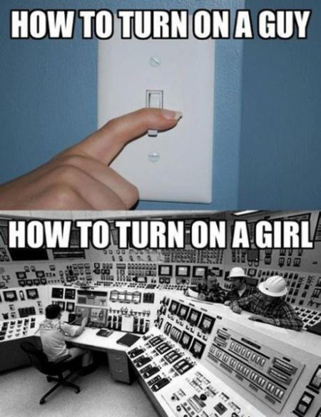 Turn on a guy versus turn on a girl at PMSLweb.com