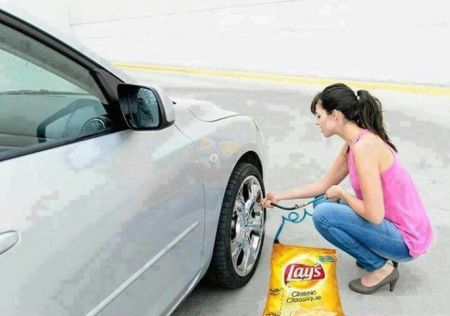 Blow up your tires with bag of lays – Friday laughter at PMSLweb.com