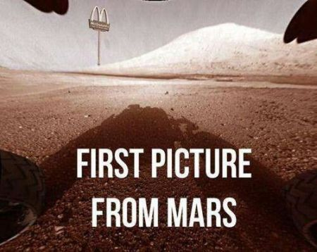 First picture from Mars Mc Donalds humor at PMSLweb.com