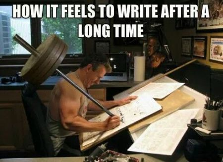 How it feels to write after a long time - Hump day funnies at PMSLweb.com