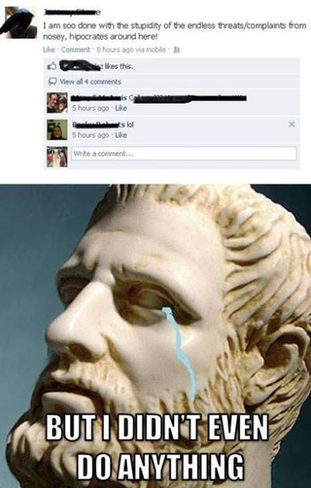 Hippocrates around us funny post - Weekend Humor at PMSLweb.com