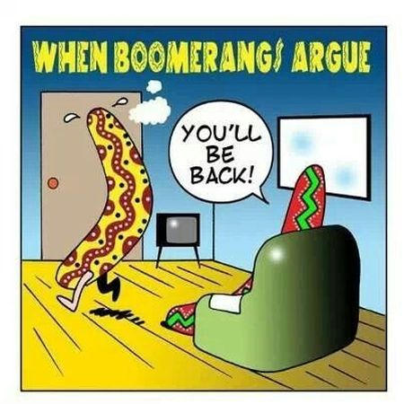When boomerangs argue - Tuesday giggles at PMSLweb.com