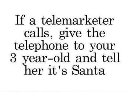 If a telemarketer calls humor - Christmas funnies at PMSLweb.com