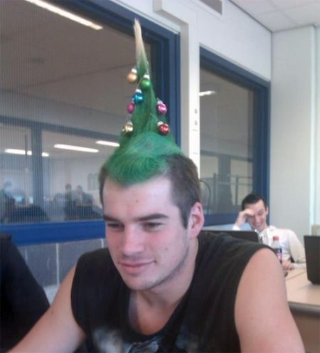 Christmas tree hair at PMSLweb.com