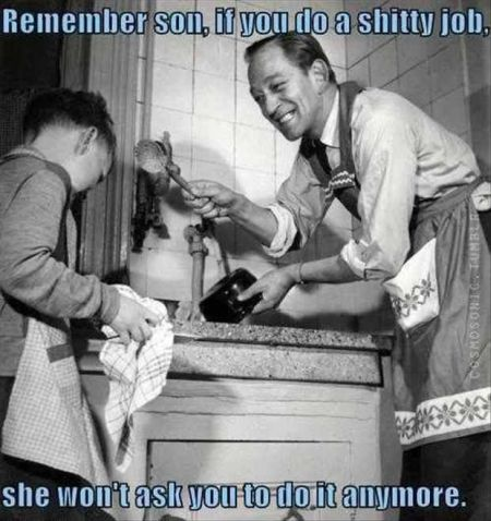 Vintage father advice funny at PMSLweb.com