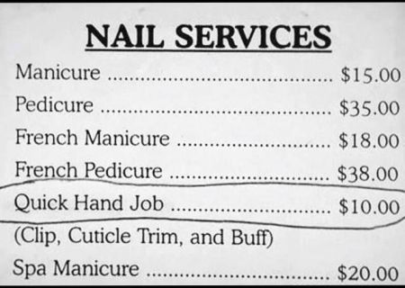 Nail services humor at PMSLweb.com