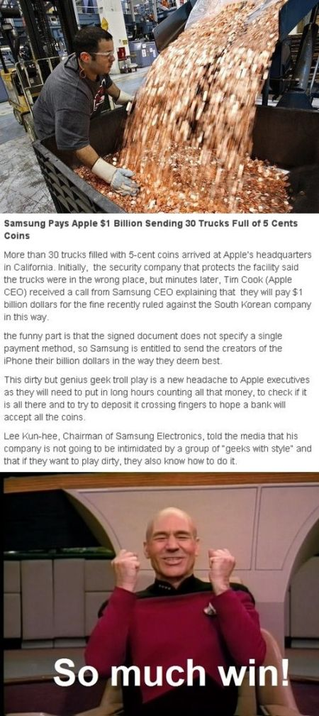 Samsung pays apple win at PMSLweb.com