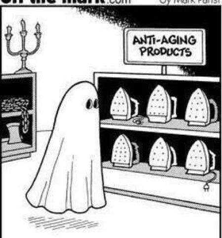 Ghost anti-aging products – Thursday humor at PMSLweb.com